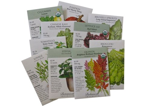 The Adventuresome Gardener 10 Unusual Seed Packets By Botanical Interests
