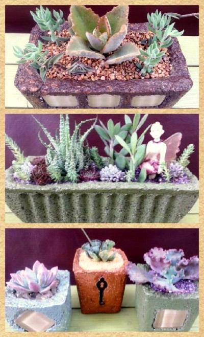 Anna Zakaria  shows three variations of hypertufa planters.