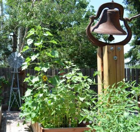 Marie's garden bell, rusty, of course!