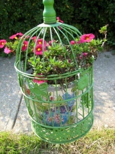 Nell Howard Stelzer's bright bird cage
