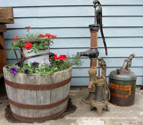 "Pump vignette ""I like old pumps too and gas nozzles!"" Carlene says"