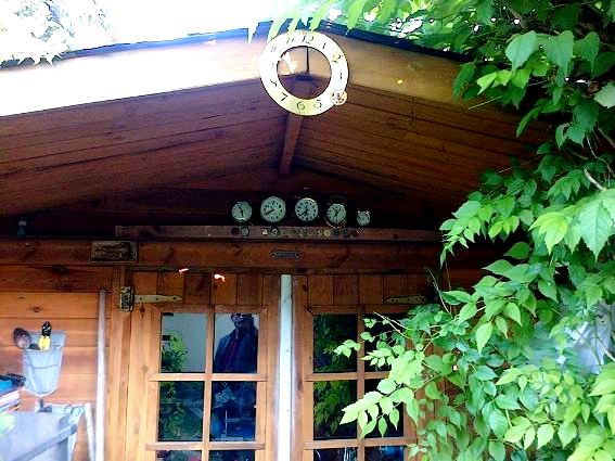 Entrance to Bogdan's 'mancave'