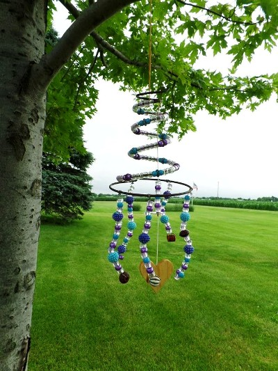 Wind Chimes Made With Fishing Lures Creative