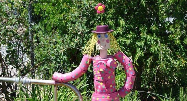 Patti's fantastical 'tin can' garden lady