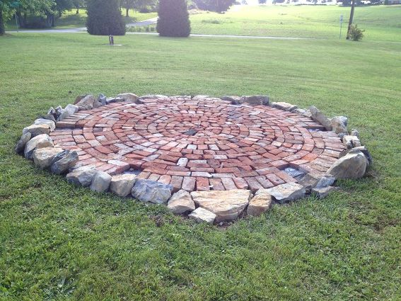 170 year old bricks were used for the base of the arbor