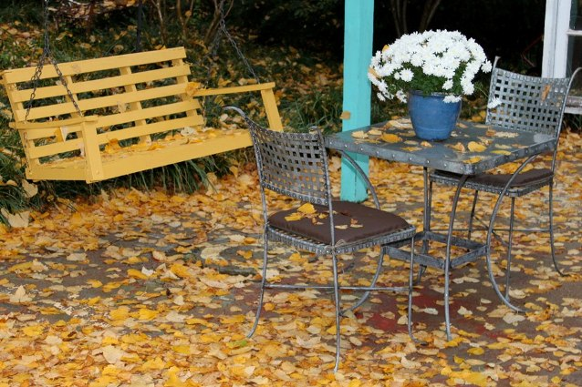 Fall is here, no need to sweep this decorative floor!