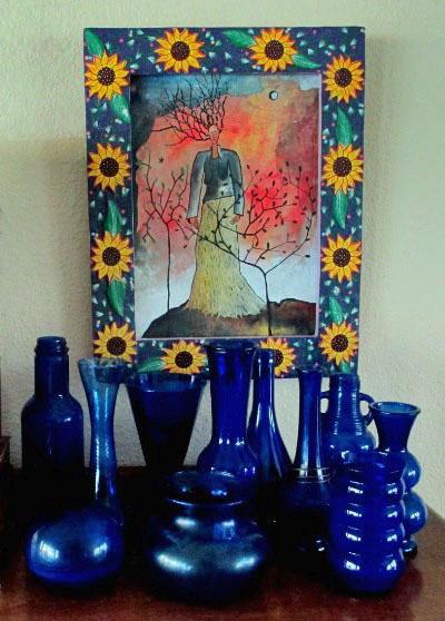 Sue Langley's cobalt blues