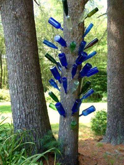 Cherrie's unique bottle tree