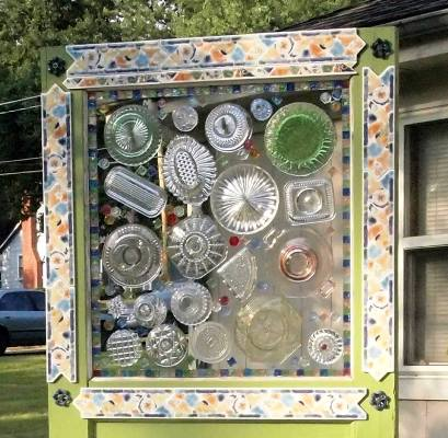 Mary Hunt combined dishware mosaic and glassware