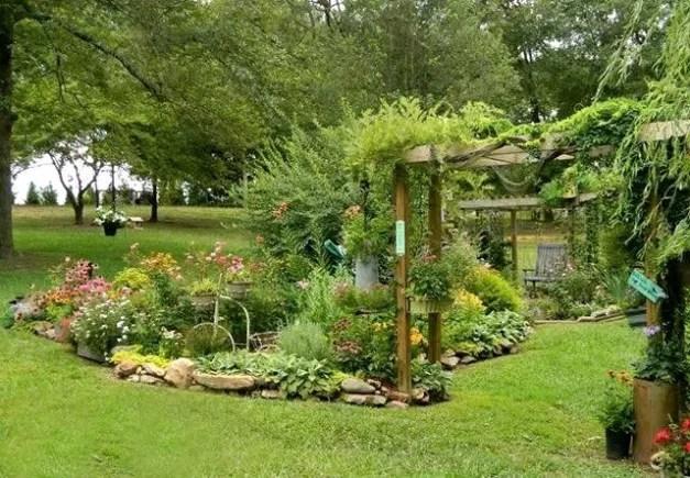 Dandi's large island flower bed