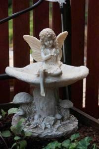 A meditative angel
