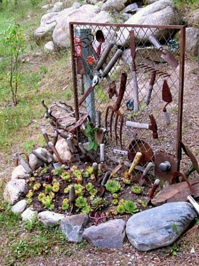 Kirk Willis's tool time scene shows off his garden tool collection