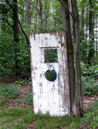 Sandra Perciful's woodsy door