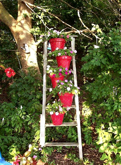 Make Dorothy Francke's 'strawberry pot' ladder