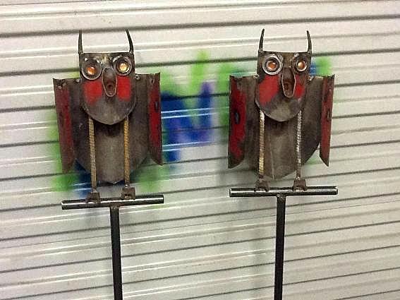 Twisted Mind Rusty Metal Shovel Owlies...