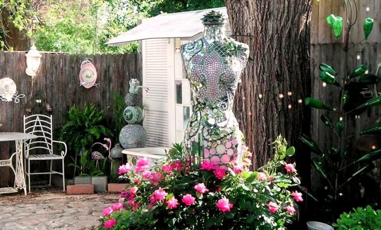 Becky's glittering garden mannequin