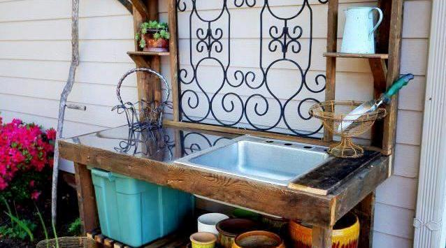 Where We Create: Fun garden workbenches