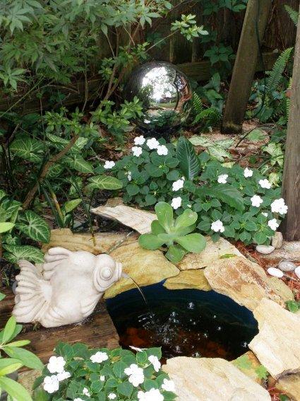 Rena Bezmen's stone rimmed pond