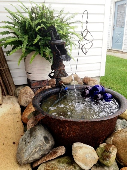Virginia Baker's kettle fountain