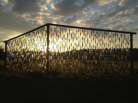 The bottle wall sunset