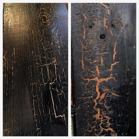 On the right is the crackled door and on the left is the patina Natalie recreated!