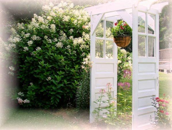 Jeanne's 'old door arbor' redo
