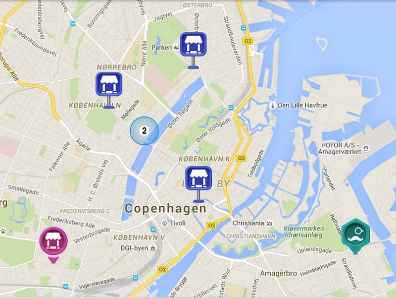Copenhagen flea markets map