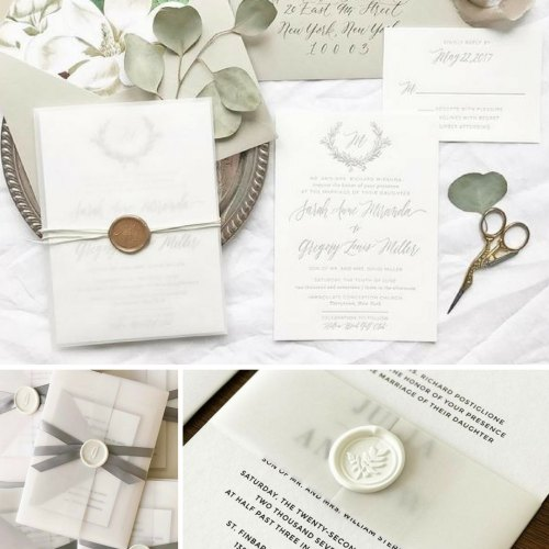 Medium Of Pictured Wedding Invitations