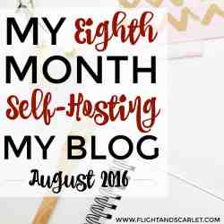 Interested in self-hosting your blog? This is a great overview of one blogger's eighth month blogging, including updates about hosting and domain transfers! Really cool to see how it's done.