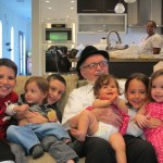 Rabbi Cywiak with his six great-grandchildren (from left to right): Alan, Eilad, Jak, Dana, Stephie, and Jessi.