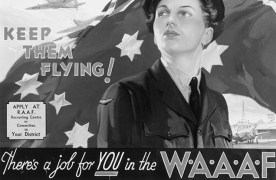 1941 WWII—The Women's Air Training Corps is created and develops into the Women's Auxiliary Australian Air Force. Established 5 March 1941 (National Pioneer Women's Hall of Fame, 2001) Photo: Australian War Memorial, ARTV01114