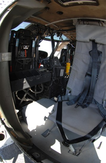 Interior of a Blackhawk helicopter