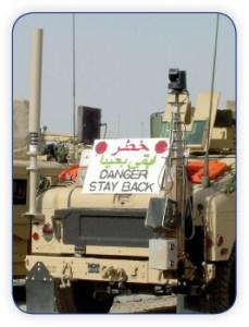 Military Mast on Humvee
