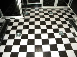 Small Of Black And White Tile Floor