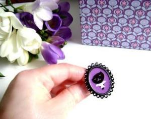 I am a Cat Girl in Violet - Adjustable Ring2