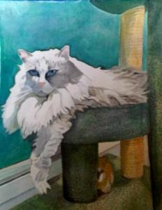 Watercolor of Sunny by his mom, Maggie Williams