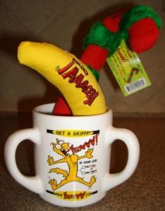 YEOWWW! banana, YEOWWW! Candy Cane and an Official Yeowww!® 3-Handled Mug