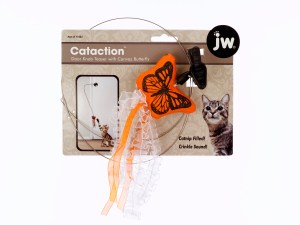 JW Pet Door Knob Teaser with Canvas Butterfly
