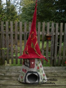 Felted cat house $210