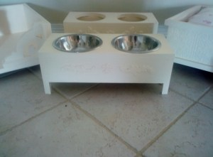 French Shabby Style Pet Feeders Medium $45