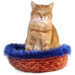 Hand Knit Peruvian Highland Wool Felted Cat Napper Cat Bed - Oke