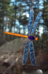 Stained Glass Dragonfly Suncatcher No. 69 $18
