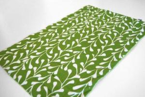 Modern Cat Mat with green and white leaf fabric $30