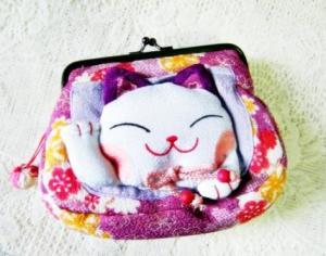 Lucky Cat Purse / Cosmetic Purse $12.00