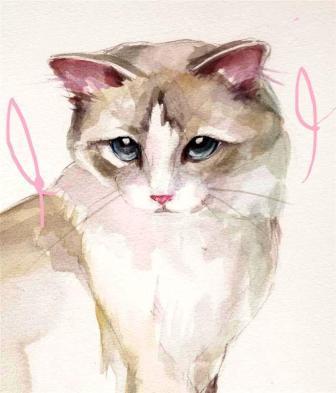 Portrait of Huxley by Vera Gaskari