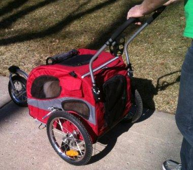 The Solvit Products HoundAbout™ Bicycle Trailer with optional Stroller Kit
