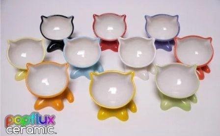 Popflux Ceramic MeowChow Bowls