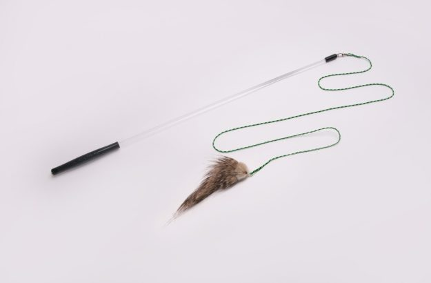 foxifur kittenator cat toy with rod