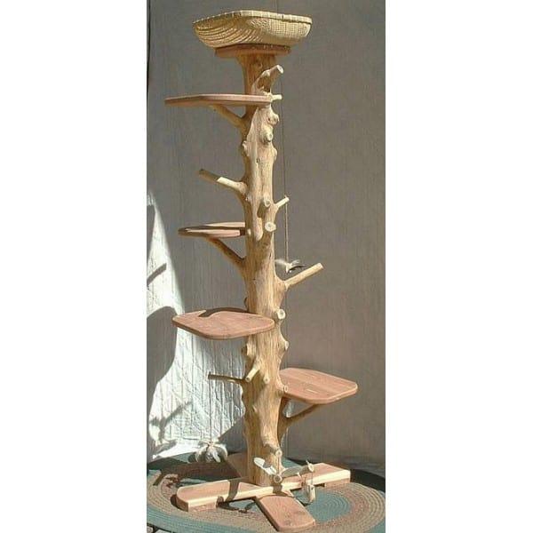 One of a Kind 6 Foot 2 Inch Cedar Cat Tree (as seen on Martha Stewart Show)