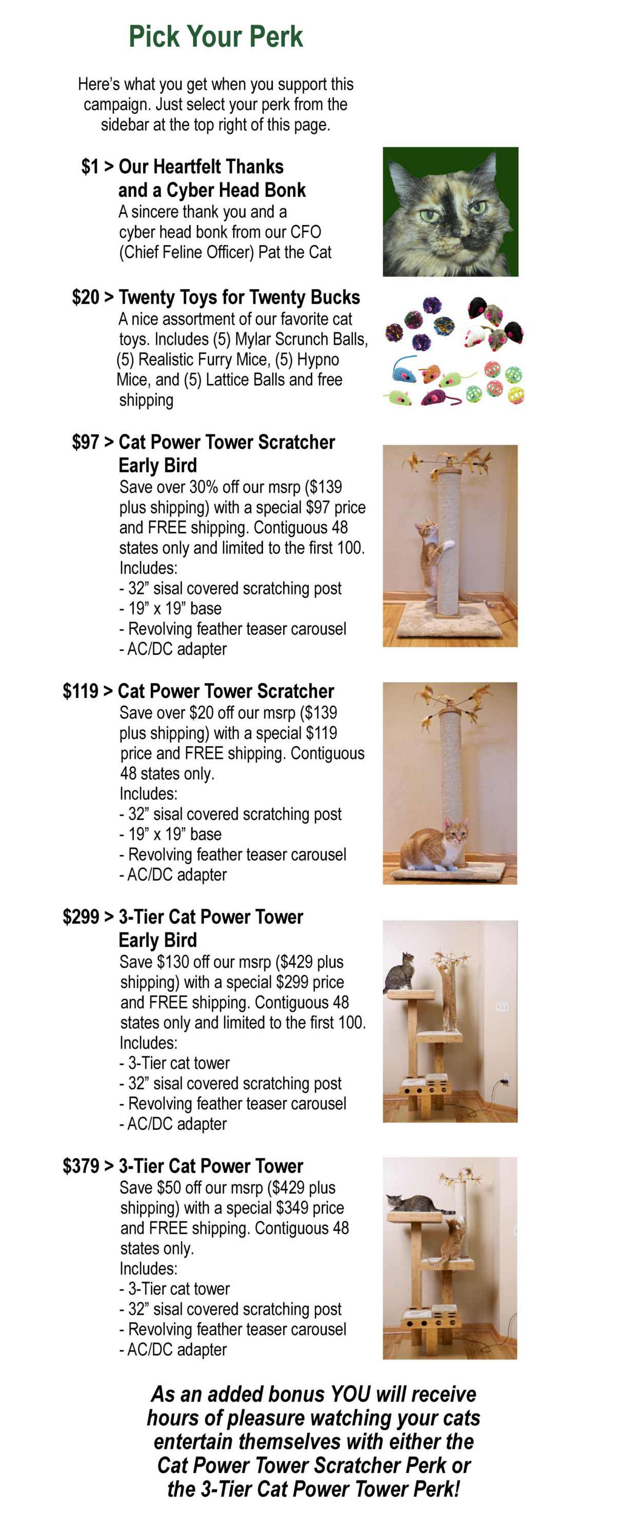 Cat Power Tower Perks